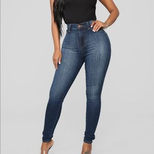 Luxe High-Waist Skinny Jeans